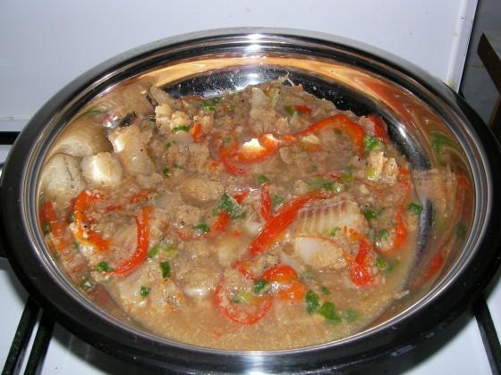 Готовим рыбу с рисом