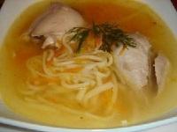 Суп из курицы с домашней лапшой